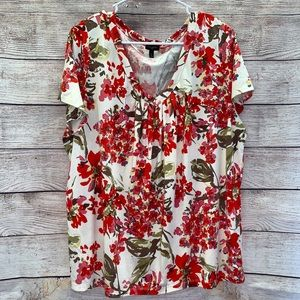 Talbots floral shirt 2x